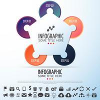 Kreis Infografiken Designvorlage