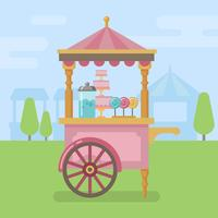 Candy cart platt illustration vektor