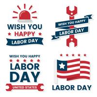 Labour Day Vector etikett för banner