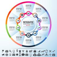Circle Infographics Design Mall