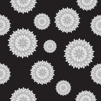 Seamless Flower Pattern Vector bakgrund