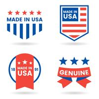 Amerika-Vektor-Label für Banner