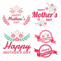 Mother Day Vector Label für Banner
