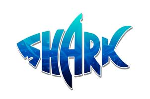 Färgrik Shark Logo Design Vector
