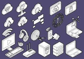 Abbildung der grafischen Computerikonen der Informationen stellte Konzept ein
