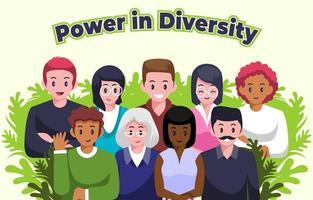 Gruppe von interracial Menschen vektor