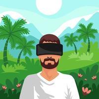 virtuelles Reisen in die Natur vektor