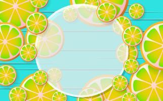 citronad vektor bakgrund