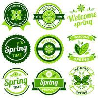Frühling Retro Vintage Vector Label