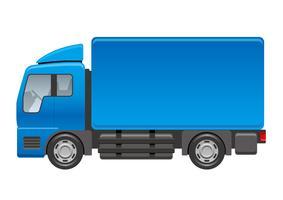 Lastbil illustration isolerad på en vit bakgrund. vektor