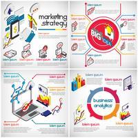 Illustration des eingestellten Konzeptes des grafischen Geschäfts der Informationen vektor