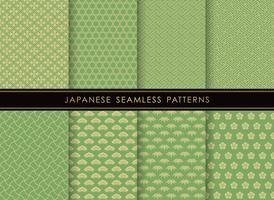 Satz japanische traditionelle, nahtlose Muster.