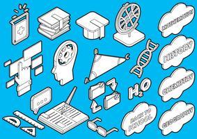 Illustration von grafischen Bildungsikonen der Informationen stellte Konzept ein vektor