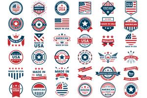 Amerika-Vektor-Label für Banner vektor