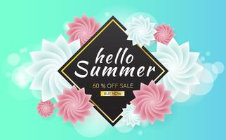 Sommer-Verkauf Vorlage Banner Vektor Hintergrund