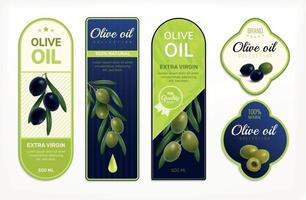 Olivenöl-Etiketten-Set vektor