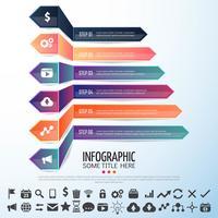 Arrow Infographics Design Mall vektor