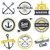 nautisches Retro-Vektor-Logo für Banner