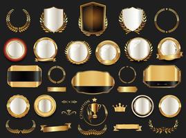 Luxus-Premium-Abzeichen und Etiketten vektor