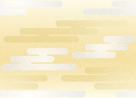 Seamless moln mönster i den japanska traditionella stilen. vektor
