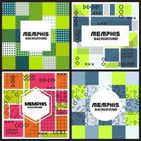 Memphis-Hintergrund-Stil Design-Vorlage