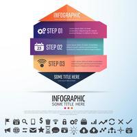 Geometrisk infografisk designmall