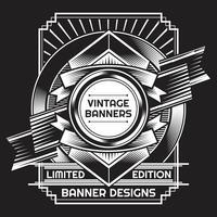 Vintage bakgrundslabel stil Designmall vektor