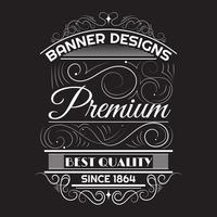 Vintage Hintergrund Label Stil Designvorlage vektor