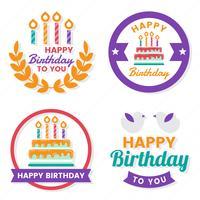 Alles- Gute zum Geburtstagvektorlogo für Fahne
