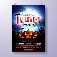 Halloween Party flyer vektor illustration