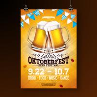 Oktoberfest party affisch illustration