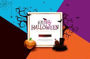 Halloween försäljning banner illustration
