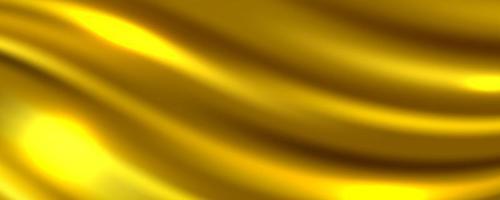 abstrakter Hintergrund des goldenen Seidengewebes, Vektorillustration vektor