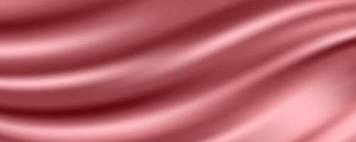roségoldener Seidenstoff abstrakter Hintergrund, Vektorillustration vektor