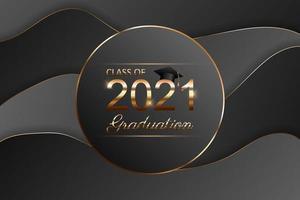 Klasse des Abschlusstextdesigns 2021 für Karten, Einladungen oder Banner vektor