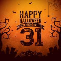 Glückliche Halloween-Fahnenabbildung vektor