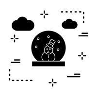 Vektor Schneemann Symbol