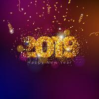 Abbildung des guten Rutsch ins Neue Jahr 2019