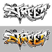 gata graffiti vektor bokstäver
