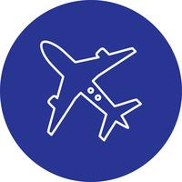 Vektor flygplan ikon
