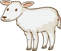Baby Schaf Tier Cartoon auf weißem Hintergrund vektor