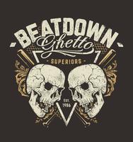 Grunge Design mit Totenköpfen vektor