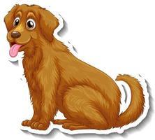 Aufkleberdesign mit Golden Retriever Hund isoliert vektor