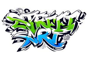 gatukonst graffiti vektor bokstäver