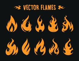 vektor flammor