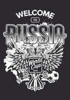 Välkommen till Ryssland Art vektor