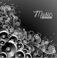 Vektor musik illustration med högtalare