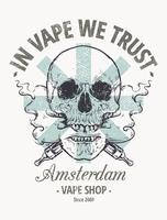 vaping skalle art