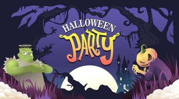 Halloween-Party-Vektor-Illustration, Halloween-Hintergrund vektor