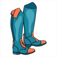 Outfit Reiterkleidung für Jockey Boots Illustration im Cartoon-Stil vektor